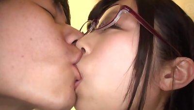 Strong sexual pleasures in threesome for Katou Honoka
