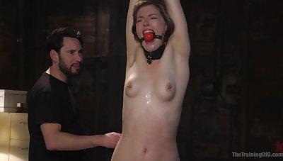 Soreness vibrator and friend's penis are dictatorial association for Ella Nova