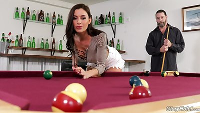 Young chick Gia DiMarco is skulduggery on her sugar daddy in the public glory hole buildings