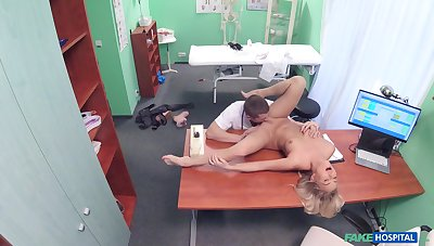 Doctor's big dick suits this blonde's thirst be advisable for porn