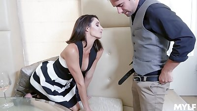 Hardcore fucking in doggystyle fumbling with a facial be fitting of Silvia Saige