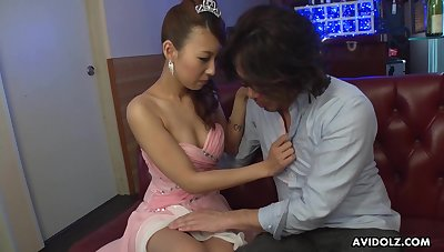 Voracious for cum unqualifiedly stuck Jap slut Mai Takizawa is poked sideways