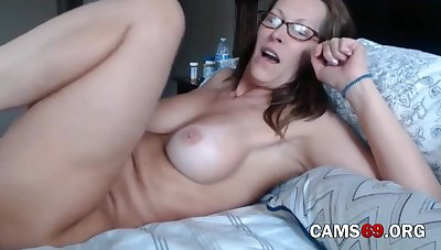 Mature with Victorian Pussy and Big Tits Teasing on Webcam
