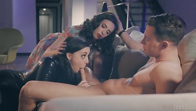 Joanna Angel surprises say no to husband with a 3-way with Angela White