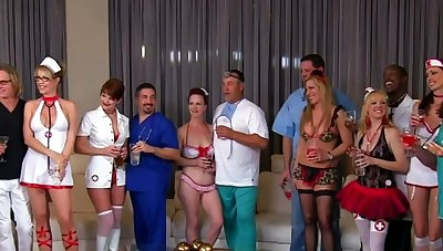 Oral sex during a wild roleplay party