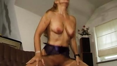 Blonde granny GILF mature doggystyle sexual congress