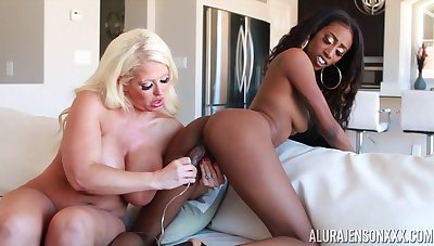Feeling extremely horny perverted busty MILF Alura Jenson is ready be fitting of lesbian fun