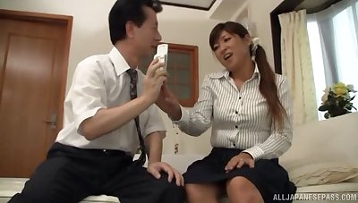 Curvy Asian wife undressed and fucked by a large manhood. HD