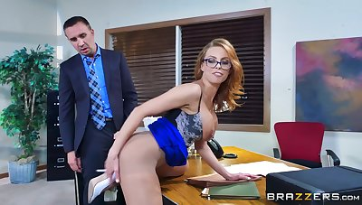 Selfish female bends ass for the boss to bang her right