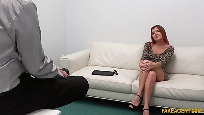 Redhead amateur Renata Fox gets fucked during order casting