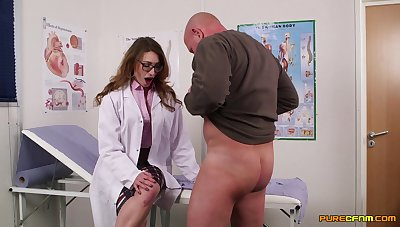 Nurses put in an appearance more than prepared for a serious CFNM cock deployment XXX
