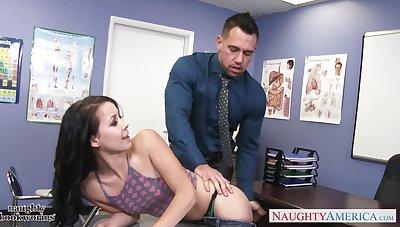 Goody-goody Alaina Kristar has an affair down inviting teacher Johnny Castle