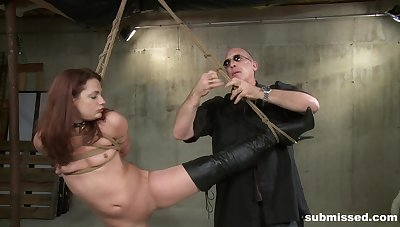 Brunette babe Ten Amorette tied up added to painful apart from a abuse